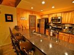 Large breakfast bar with 4 barstools