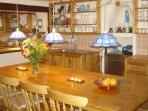 Spacious dining area in kitchen