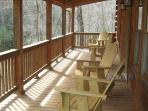 Spacious Porch for beautiful Creek views and wildlife grazing.