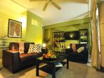Cozy Living Room Facing Pool with Big Screen TV, Premium Cable Channels and Home Theather
