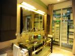Luxurious Master Bathroom with Safe