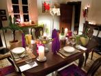 dining room in wintertime