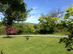 Hockmoor House garden looking East