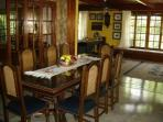 The breakfast dining room