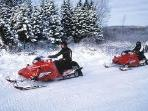 Snow Mobiling all over the place...