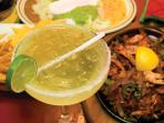 Mexican dish at Trapiche Restaurant with Margarita