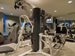Fitness gym in building