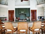 Gourmet Kitchen with bar seating for 7