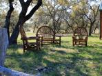 Sit and relax under the oaks
