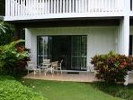 Lanai is somewhat secluded, yet offers direct access to 'great lawn' and beach