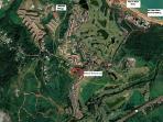 Satellite image showing hotel beach, apt etc