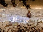 Winter view of Piata Sfatului - the apartment is right behind the Christmas tree