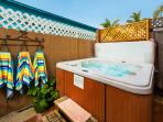 Enjoy this 40-Jet Jacuzzi hot tub after a day of seeing all the San Diego sights