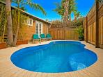 Enjoy a dip in your brand new private swimming pool which measure approximately 23 feet long by 12 feet wide