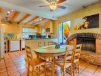 Kitchen is open to the dining and living area for easy socializing and family time