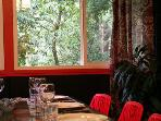 Big Bertha's, Views of lush foliage, Dining room