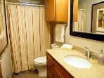 Big Bertha's, Upstairs bathroom, tub and shower