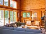 Living and Dining Area Opens to Expansive Deck