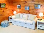 Pool House Queen Sleep Sofa with half bath (bedroom #5)