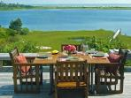 Deck Dinind with a Expansive and Spectacular Ocean View