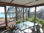 Screened Porch Overlooks the Lagoon