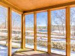 Screened Porch (winter photo - has lovely pond views)