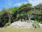 Mayan Ruins on the way to the public beach