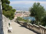 SPLIT- panoramic views with Marjan stairs