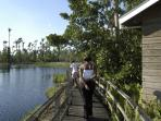 Take a long walk or short drive to the Royal Palm Reserve for Bird Watching and more!