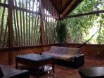 The Huts private lounge