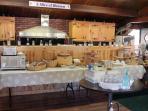 Breakfast buffet in Healthy Haven Cafe'.
