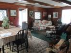 Lovely great room with original rugs