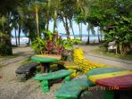 Playa Negra, only a 3 minute walk, Chao's Cafe on left, Reggae Bar on Right