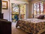 Upstairs bedroom opens to Second Story Deck that overlooks the meadow w/ spectacular views of Tahoe