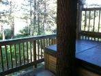 Hot Tub also over looks the meadow and Tahoe Basin from the 1st story deck