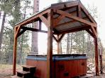 Private Hot Tub with Heavy Timber Gazebo