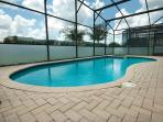 Pool with Spa & privacy screened