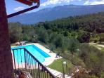 Pool & Garda's lake & Baldo volcano mountin's (+2300 mt a.s.l.) view