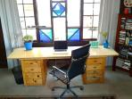 work space with garden view, free high speed internet