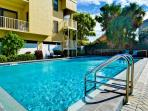 Beachside setting and pool at the Villas of Clearwater Beach