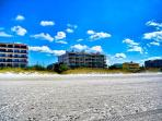 Walk directly out to the beach from Villas of Clearwater Beach