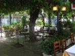 Greek taverna and cafe on the little square at two minutes' walk