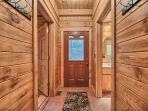 Hallway to the entry door