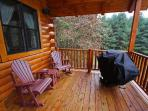 Main deck with propane grill