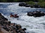 great white water rafting on the Deschutes only 20 minutes away in Maupin