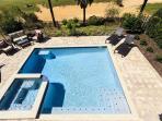 Large pool and spacious pool deck