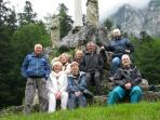 A group walking trip to the monastery