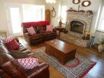 Cowboy cozy family room with 50' Flat screen HD TV/entertainment center/Directv.