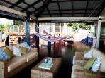 Outdoor deck, Bedarra Beach House.
