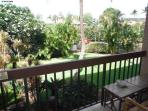 Beautiful tropical garden view right from our lanai! Anyone care for coffee or drinks?